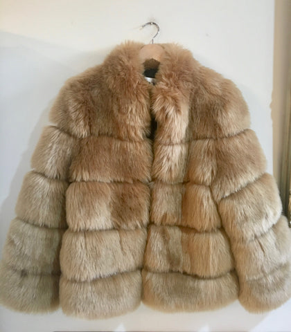 Amo Fur Jacket Light Camel