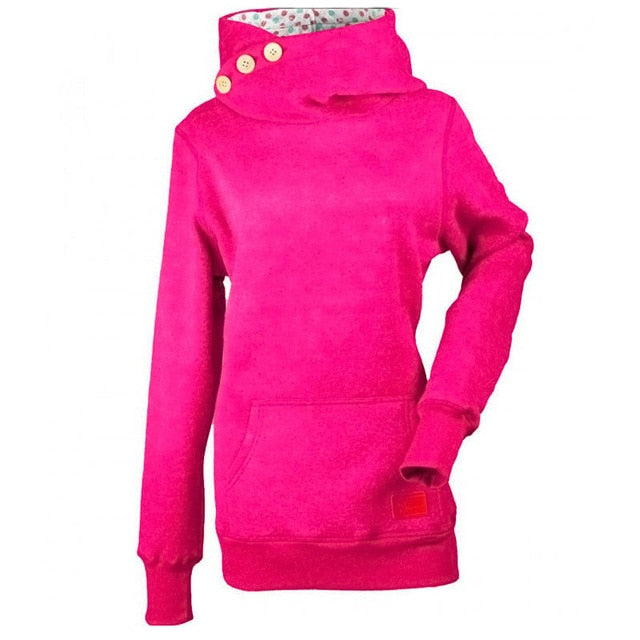 Women Hoodies Hooded Sweatshirt Long Sleeve  Pullover Thermal Jumper Tops