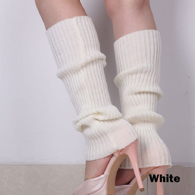 Punk Solid Black Cool Knit Long Socks Women Outdoor Knee High Elastic Leg Warmers 2020 Lady Warm Slim Gothic Hip-hop Rock Sock