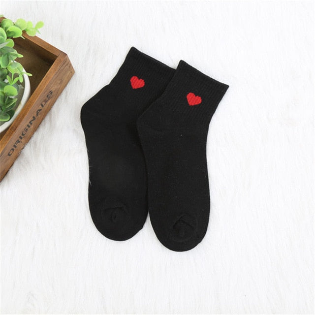 Women Daily Socks Harajuku Korea Japanese Cotton Kitten Flame Ulzzang Socks Men Chinese Cactus Gun Shark Alien Christmas Socks
