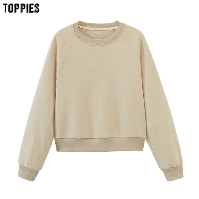 toppies womens tracksuits hooded sweatshirts 2020 autumn winter fleece oversize hoodies solid color jackets