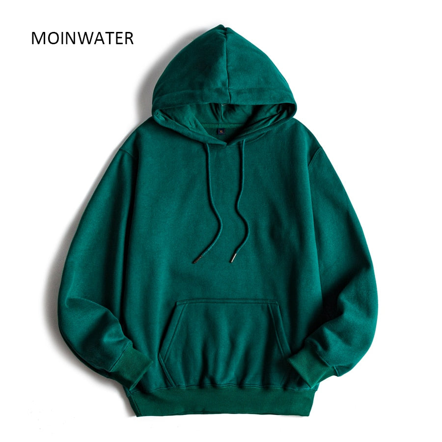 MOINWATER Brand New Women Fleece Hoodies Lady Streetwear Sweatshirt Female White Black Winter Warm Hoodie Outerwear MH2001