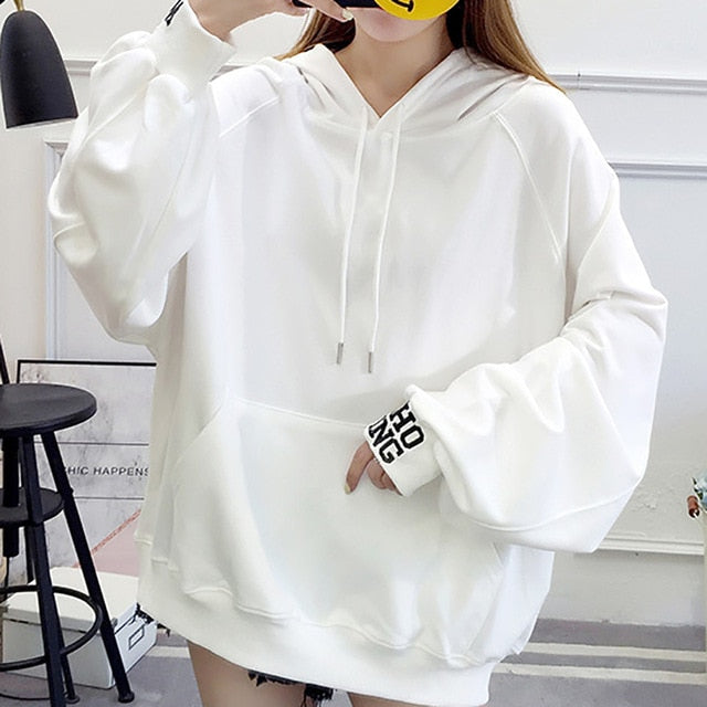 Oversized Hoodie Women Letter Printing Sweatshirt Women Long Sweatshirts Hoodie Women Harajuku Print Long Sleeve Hoodies Women