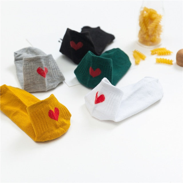 Cute Cartoon Cotton Socks Women 5 Pairs Invisible Women Ankle Socks Slippers Korean Harajuku Kawaii Short Socks White Socks