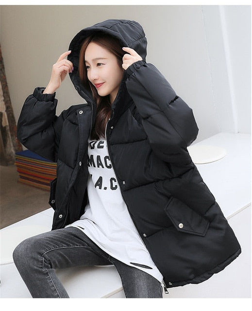 Fashion New Winter Jacket Women Hooded Parka Women Jacket Coat Thicke Down Outerwear BF Cotton Padded Female Jacket mujer