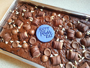 Brownie tray Happy Fathers Day