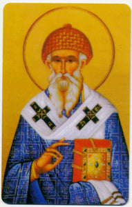 1004 - Orthodox Prayer Card St. Spyridon the Wonder Worker of Trymithous