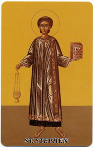 #1010  Orthodox Prayer Card St. Stephen Protomartyr