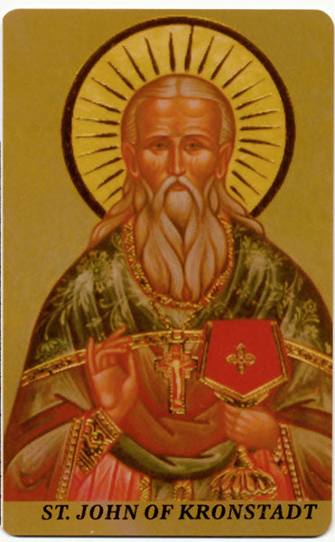 #1013 Orthodox Prayer Card St. John of Kronstadt