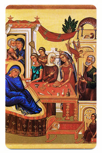 #1020 Prayer Card Nativity of the Theotokos