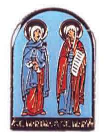 Sts. Martha and Mary Lapel Pin