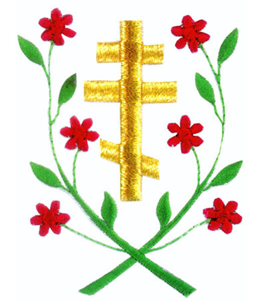 3 Bar Cross Orthodox Cross Stitch Pattern Only