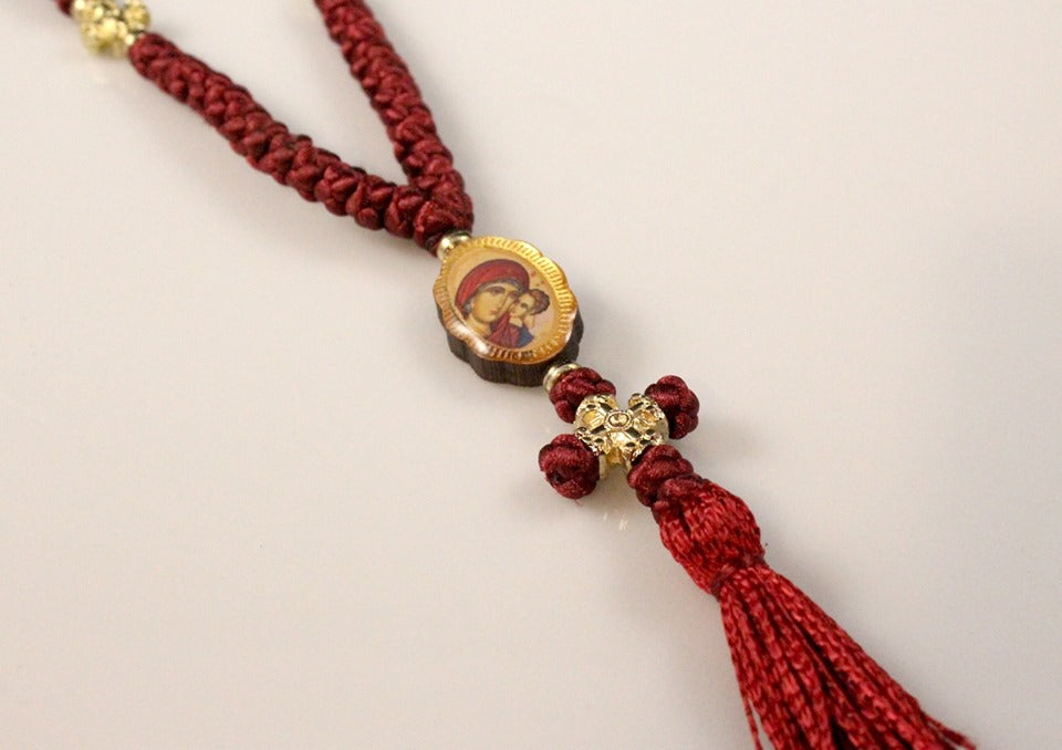 50 Knot Prayer Rope with Double Sided Icons