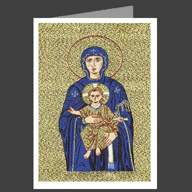Theotokos Hagia Sophia Tapestry Icon Greeting Card With Envelope