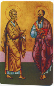 #983  Orthodox Prayer Card Sts. Peter and Paul