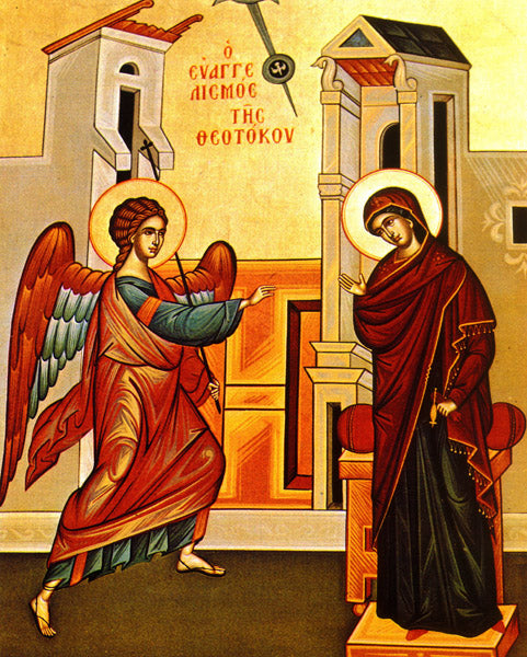 Annunciation Orthodox Icon Cross Stitch