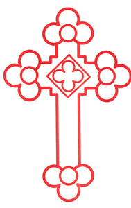 Orthodox Car Decal Budded Cross