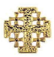 Icon Pin Jerusalem Cross