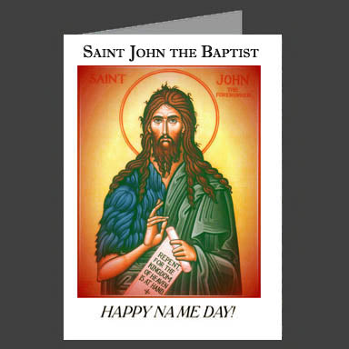 Orthodox Name Day Cards St. John the Baptist