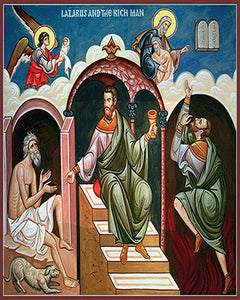 Parable of Lazarus and the Rich Man Orthodox Icon