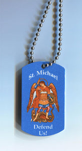 Orthodox Icon Dog Tags with Chain Archangel Michael