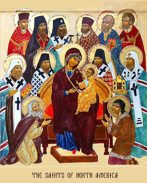 All Saints of North America Orthodox Icon