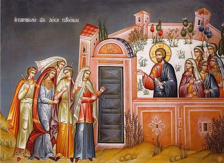Parable of the Ten Virgins Orthodox Icon
