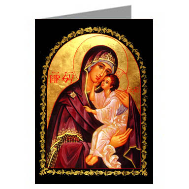 Orthodox Blank Note Card Theotokos
