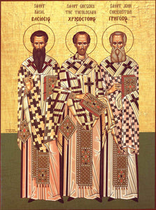 Three Holy Hierarchs Orthodox Icon