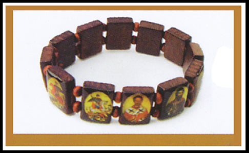 Orthodox Wooden Icon Bracelet