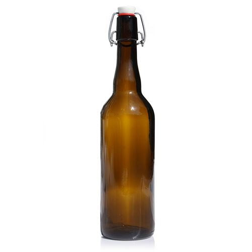 Amber Glass beer pressure bottle 750ml swing flip grolsch top home brew