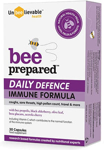 Bee Prepared Daily Defence Immune Support 30 capsules with bee propolis & more!