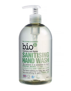 Bio-D Sanitising Hand Wash Rosemary & Thyme 500ml