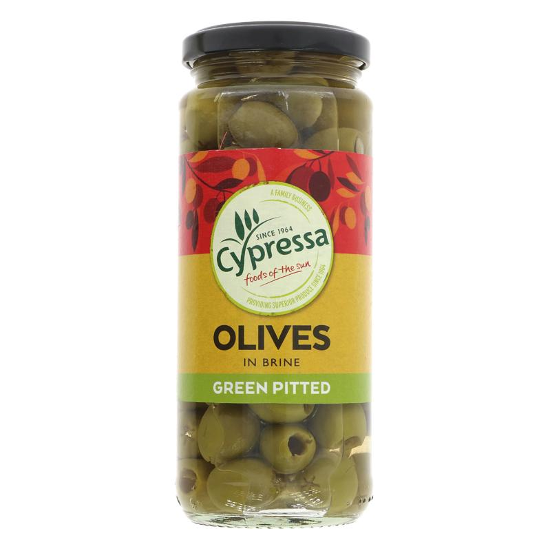 Cypressa Olives green pitted in brine 340g