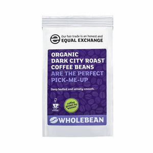 EQUAL EXCHANGE Organic & Fairtrade Dark City Roast Coffee Beans 227g strength 4