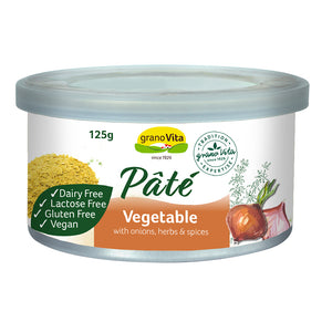 Granovita Vegetable Pate 125g with onion herbs & spices Vegan high protein