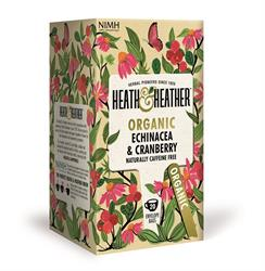 Heath & Heather organic echinacea and cranberry 20 tea bags