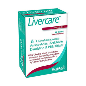 Health Aid Livercare 60 2-a-Day Tablets with Amino Acids, Dandelion & Milk Thistle