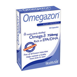 Health Aid Omegazon High Potency Omega 3 1250mg 30 Capsules to be discontinued
