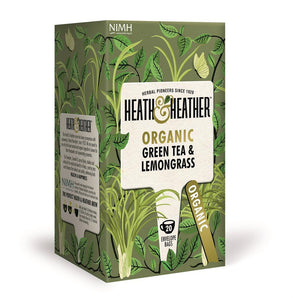 Heath & Heather Organic Green Tea with Lemongrass 20 Bags