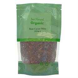 Just Natural Organic Raw Cacao Nibs 200g