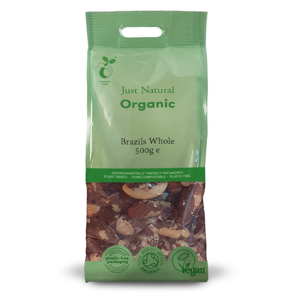 Just Natural Organic Whole Brazil Nuts 500g