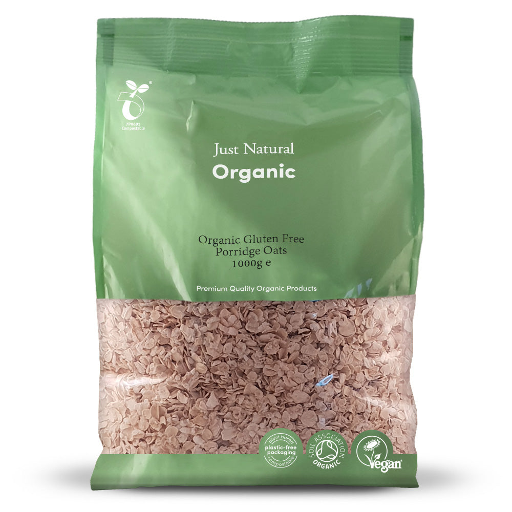 Just Natural Gluten Free Organic Porridge Oats 1kg