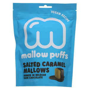 Mallow Puffs Salted Caramel in dark chocolate 100g