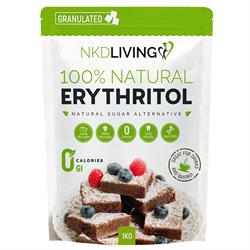 NKDLiving Erythritol Sugar Alternative 1kg Naked Living zero calorie sweetener stevia