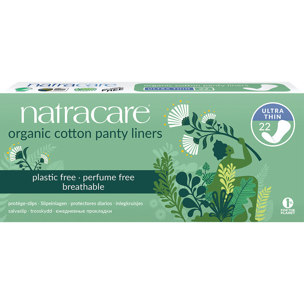NatraCare Organic Cotton Pantyliners 22 Ultra Thin Pads
