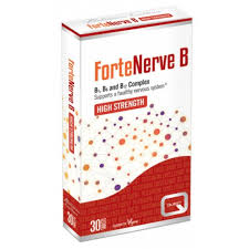 Quest Forte Nerve B B1, B6 & B12 HIGH STRENGTH complex 30 tablets VEGAN