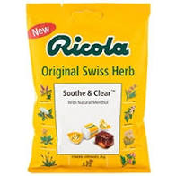 RICOLA Original Sooth & Clear Swiss Herb Drops Bag throat sweet lozenge 70g