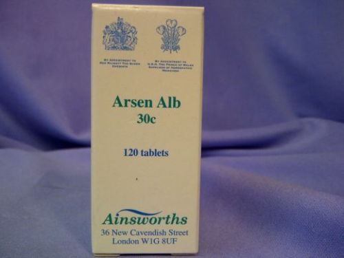 Ainsworths Homeopathic Arsen Alb 30c 125 tablets