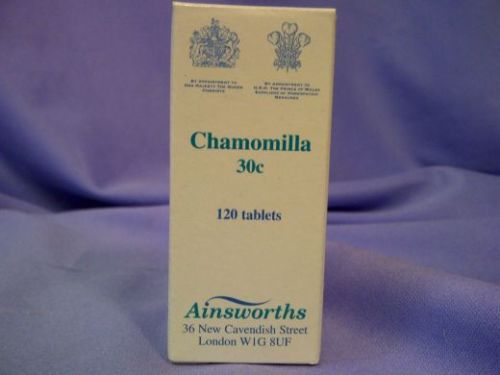 Ainsworths Homeopathic Chamomilla 30c 125 tablets